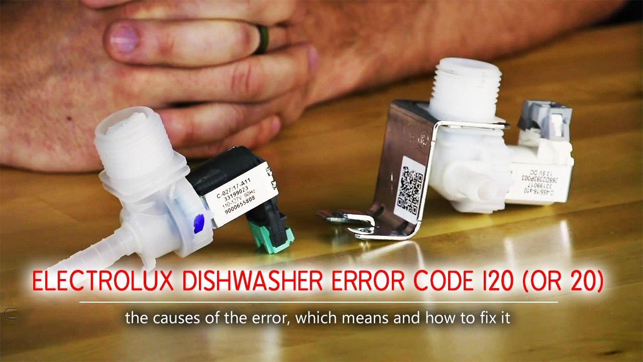 Electrolux dishwasher error code i20 (or 20)