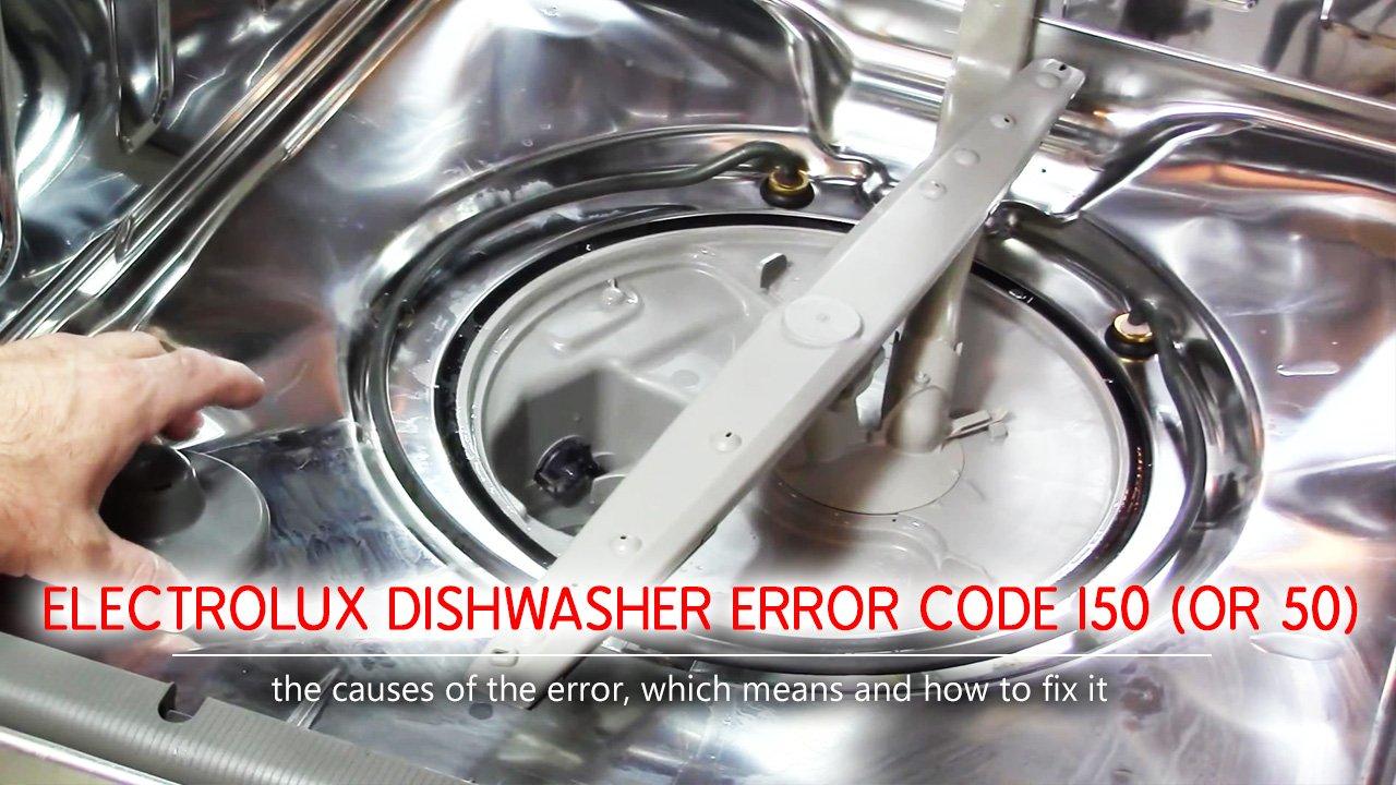 Electrolux dishwasher error code i50